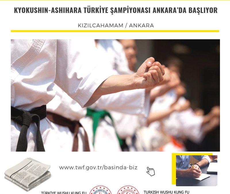 Kyokushin-Ashihara Türkiye Şampiyonası Ankara'da Başlıyor