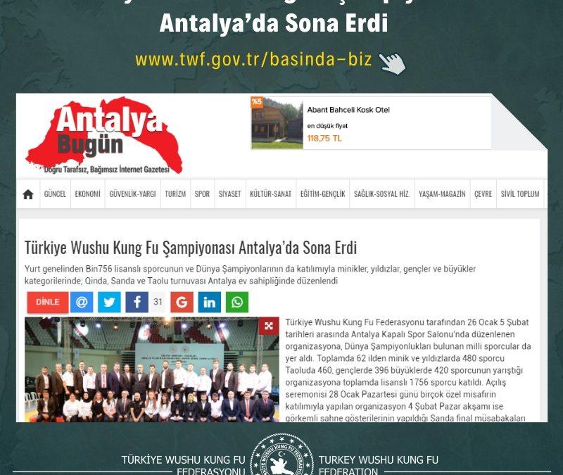Türkiye Wushu Kung Fu Şampiyonası Antalya'da Sona Erdi
