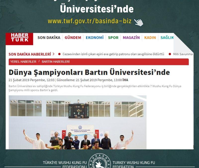 Dünya Şampiyonları Bartın Üniversitesi'nde
