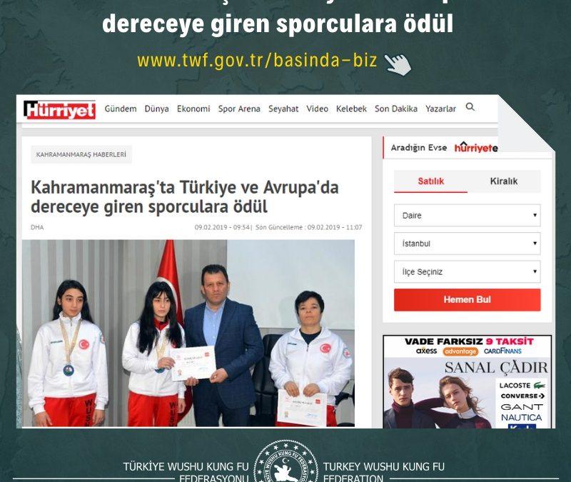 Kahramanmaraş'ta Türkiye ve Avrupa'da dereceye giren sporculara ödül