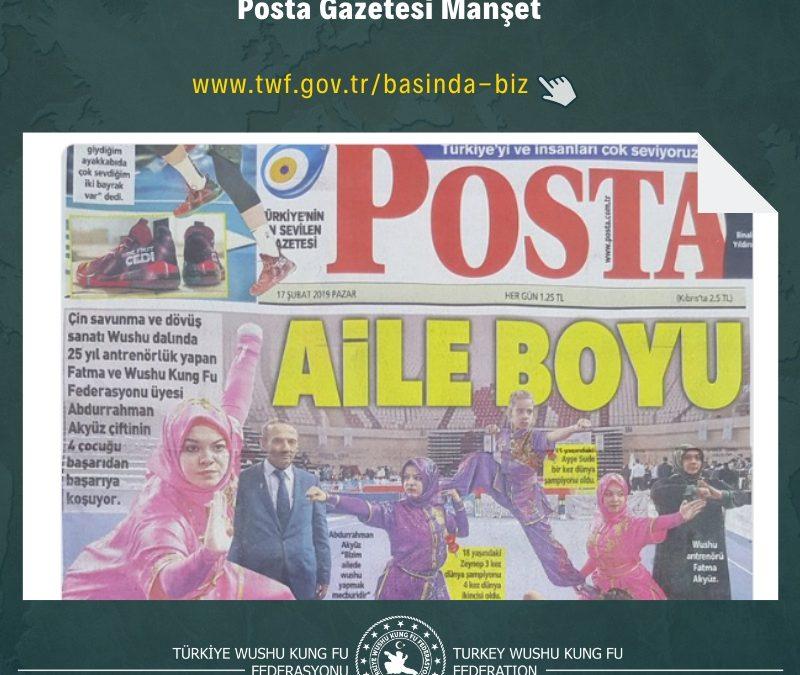 "AİLE BOYU SAVUNMA"" Bugün ki Posta Gazetesi Manşetindeyiz!"