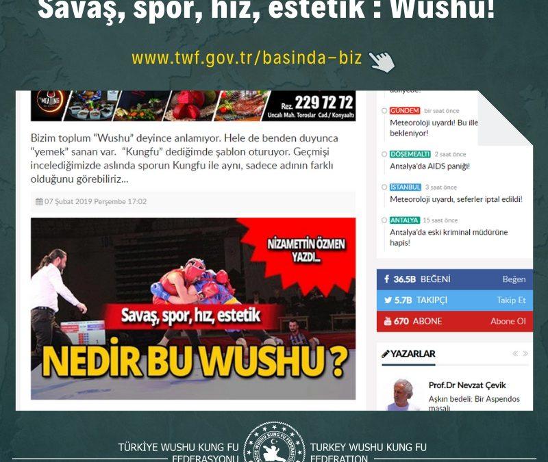 Savaş, spor, hız, estetik : Wushu!