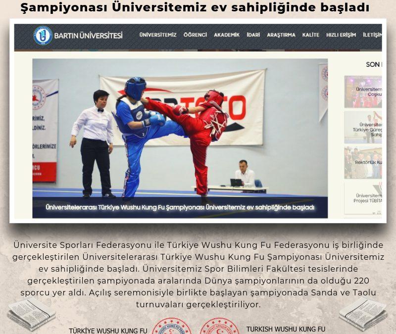 Üniversitelerarası Türkiye Wushu Kung Fu Şampiyonası Üniversitemiz ev sahipliğinde başladı