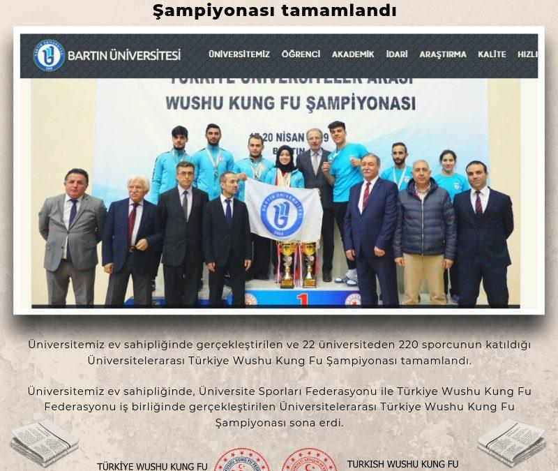 Üniversitelerarası Türkiye Wushu Kung Fu Şampiyonası tamamlandı