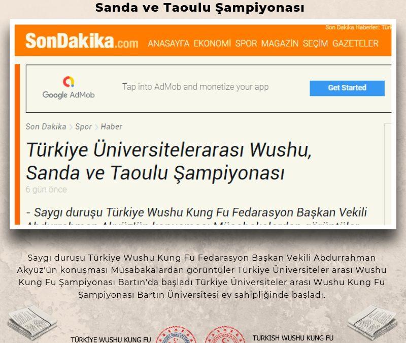 Türkiye Üniversitelerarası Wushu,  Sanda ve Taoulu Şampiyonası