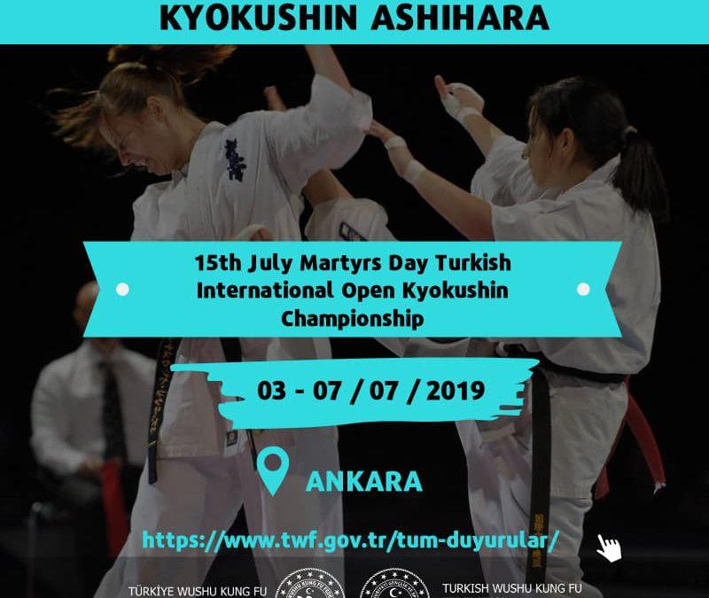 15th July Martyrs Day Turkish International Open Kyokushin Championship