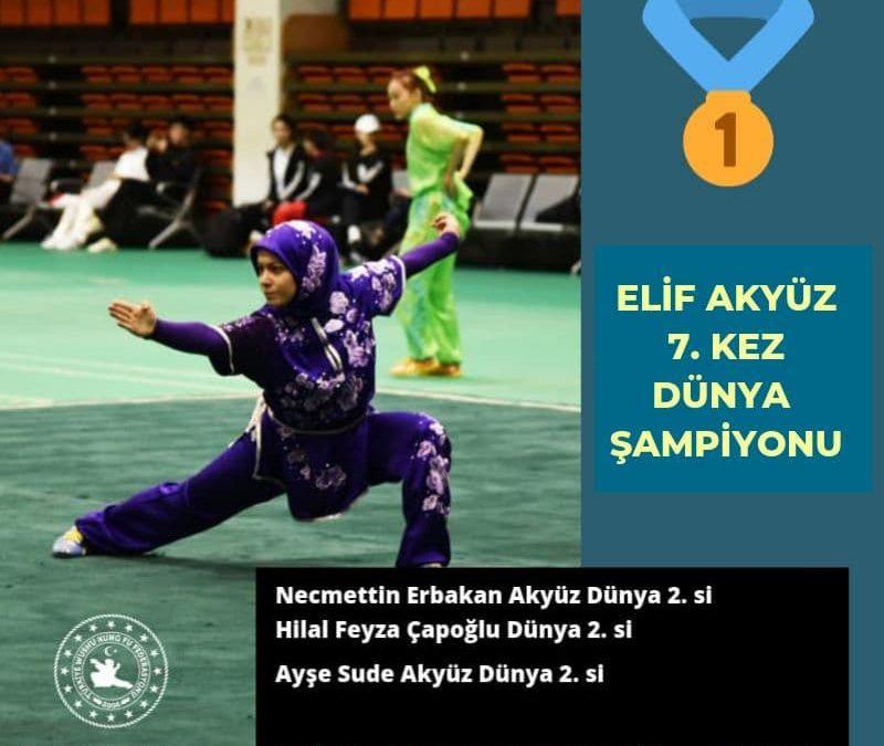 Elif Akyüz 7.kez Dünya Şampiyonu!