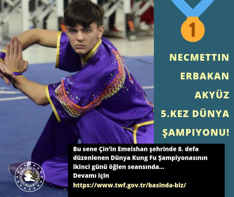 Necmettin Erbakan Akyüz 5.kez Dünya Şampiyonu!