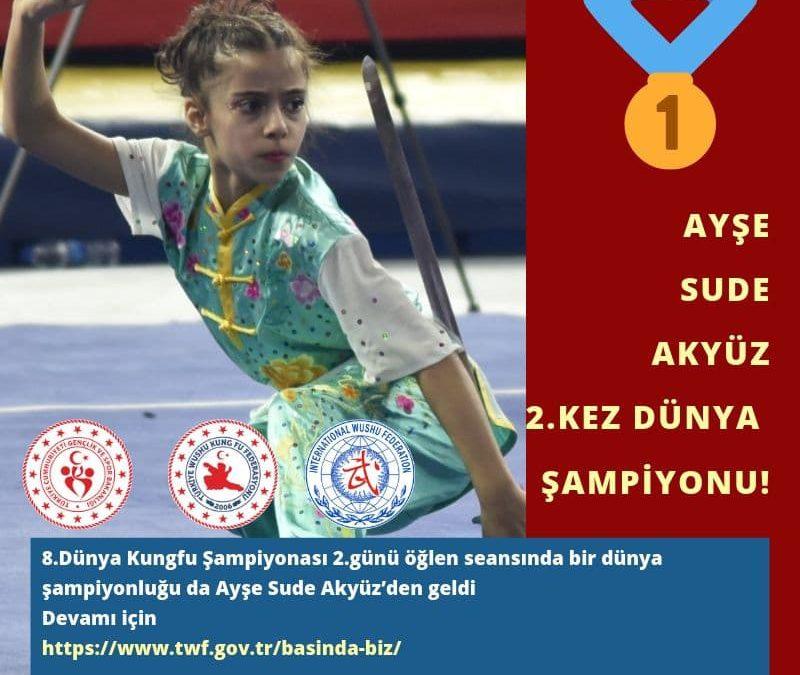 Ayşe Sude Akyüz 2.kez Dünya Şampiyonu!