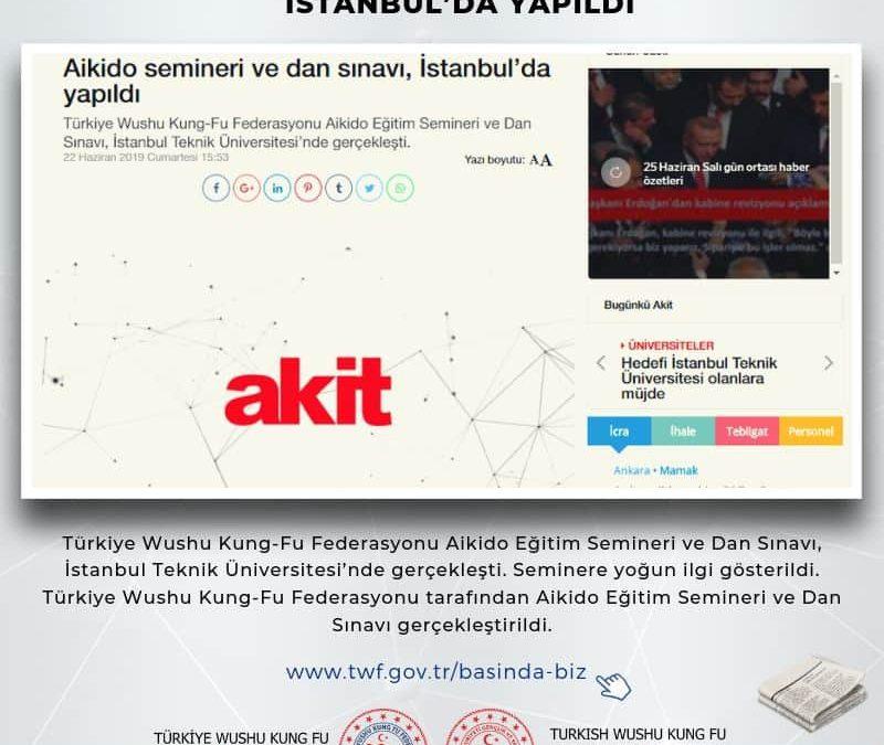Aikido semineri ve dan sınavı, İstanbul'da yapıldı – Haziran – 2019