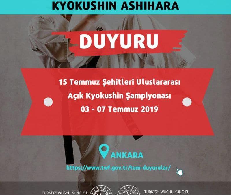 15 Temmuz Şehitleri Uluslararası Open (Açık) Kyokushin Şampiyonası Konaklama ve Ücret Detayları