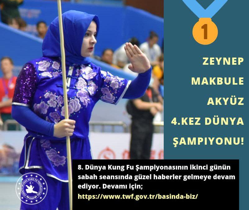 Zeynep Makbule Akyüz 4.kez Dünya Şampiyonu!