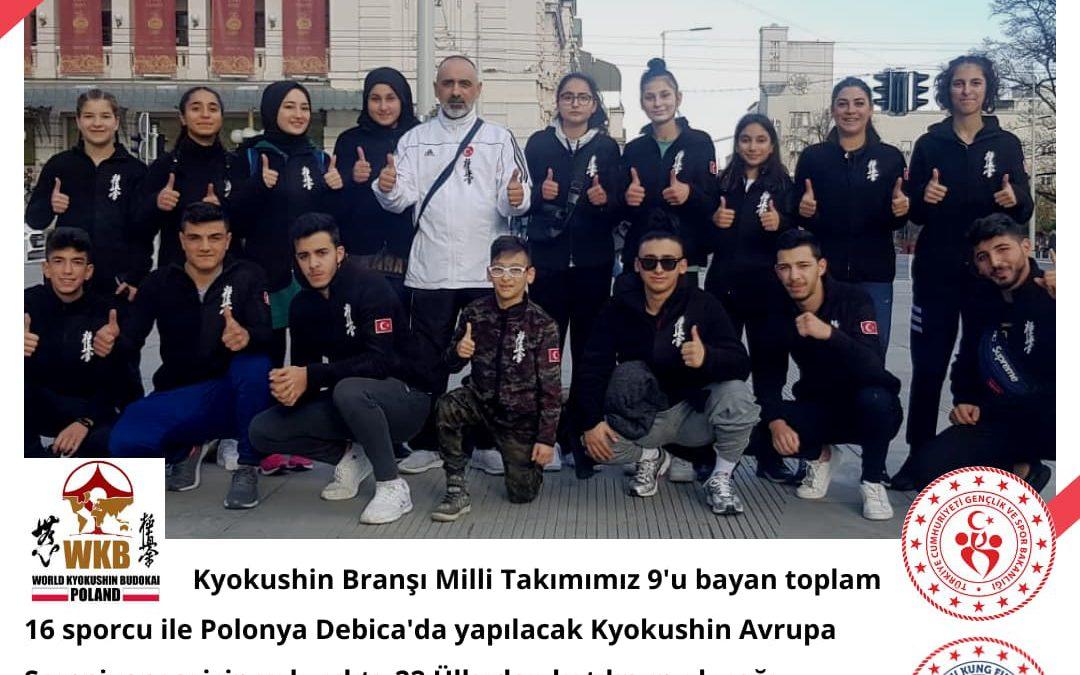 Kyokushin Branşı Milli Takımımız  Avrupa Şampiyonası için yola çıktı.
