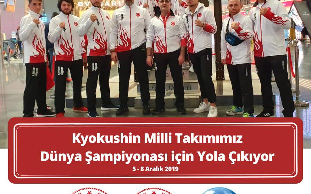 Kyokushin Milli Takımımız Dünya Şampiyonası için Yola Çıkıyor / 2019