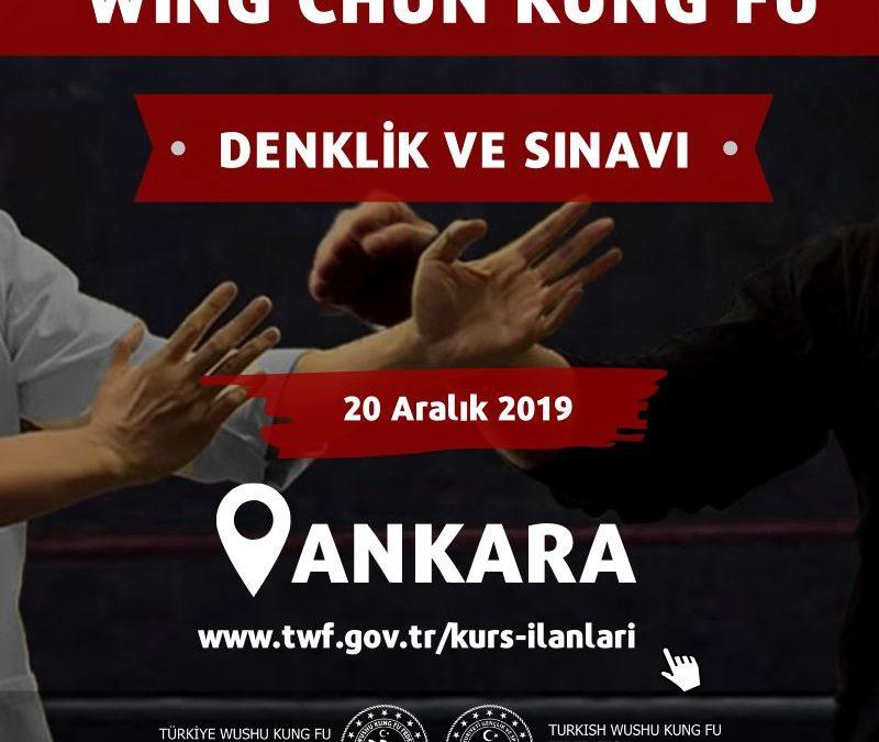 WİNG CHUN KUNG FU DENKLİĞİ VE SINAVI 20 ARALIK 2019 ANKARA