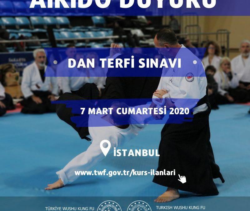 AİKİDO DAN TERFİ SINAVI İSTANBUL – 7 MART 2020