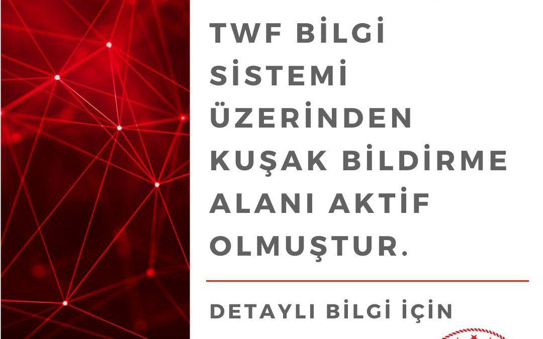Duyuru: TWF Bilgi Sistemi Kuşak Bildirimi