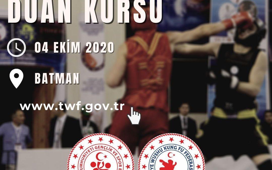 WUSHU DUAN KURSU BATMAN – 04 EKİM 2020