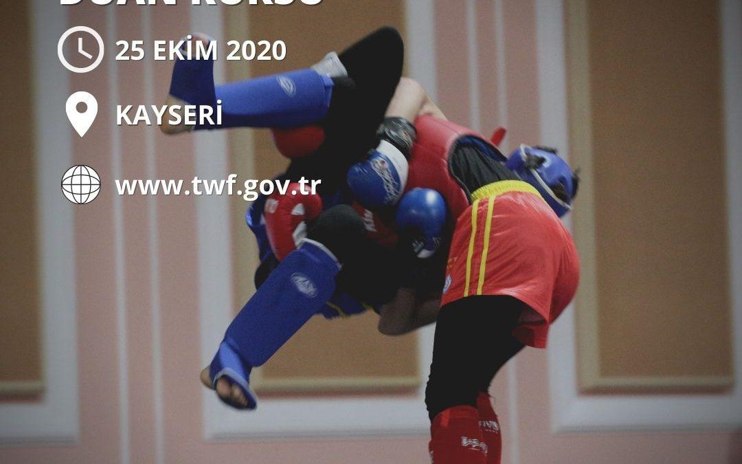 WUSHU DUAN KURSU KAYSERİ – 25 EKİM 2020