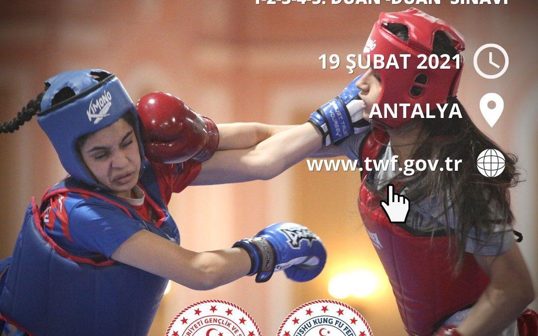 WUSHU KUNG FU DUAN SINAVI / ANTALYA / 19 ŞUBAT 2021