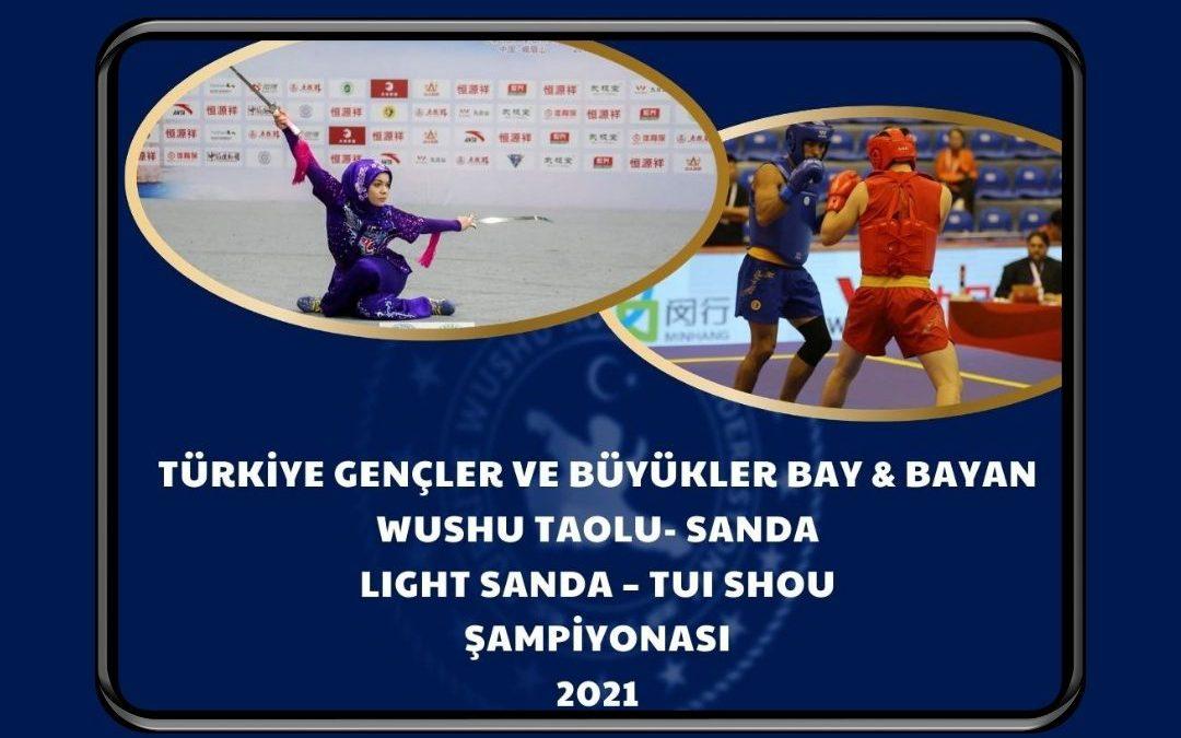 """Duyuru: """"Wushu Türkiye Şampiyonası 2021"""""""