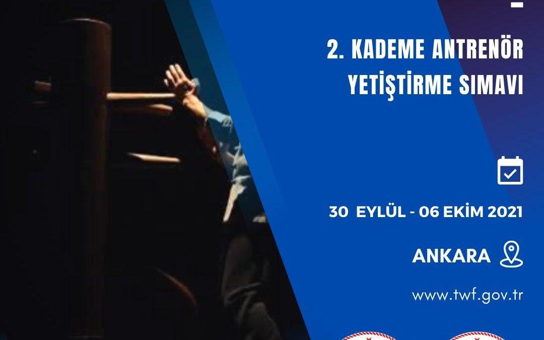 Wing Chun 2. Kademe Antrenör Yetiştirme Kursu / 30 Eylül – 06 Ekim 2021 / Ankara
