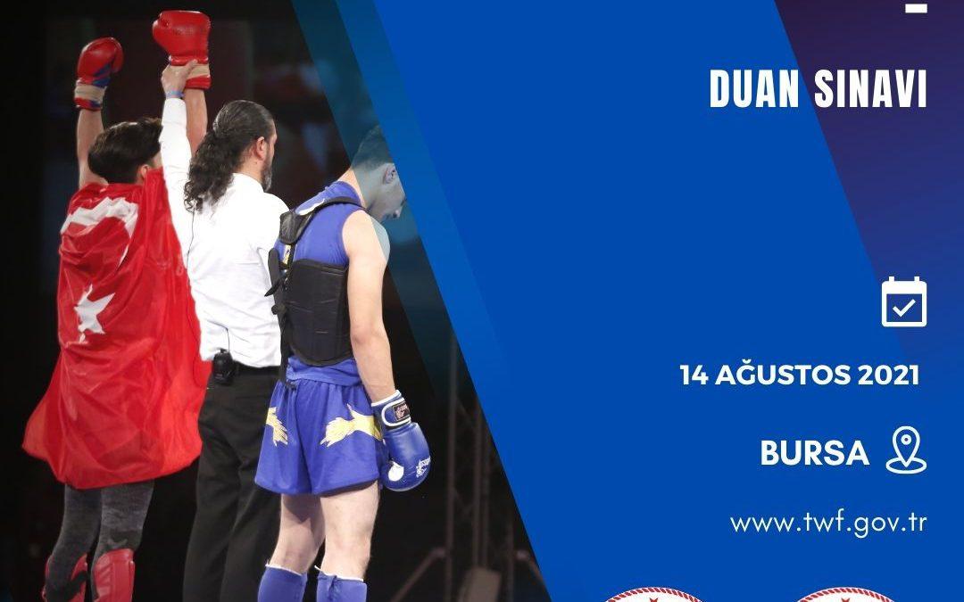WUSHU KUNG FU DUAN SINAVI / 14 AĞUSTOS 2021 / BURSA