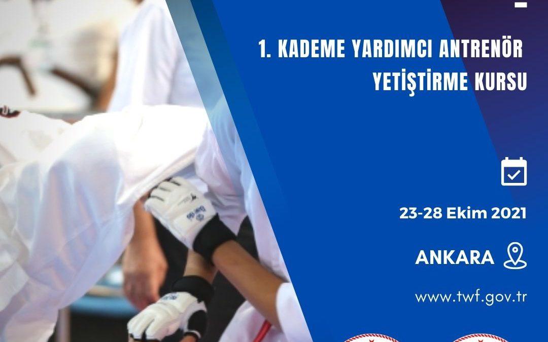 Budokaido 1. Kademe Yardımcı Antrenör Yetiştirme Kursu / 23-28 EKİM 2021  / Ankara